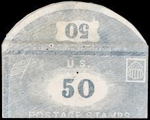 Postage Stamp Envelope. H. SMITH, Envelope Manufacturer, NY. Complete 50 (Cents)