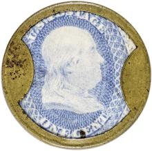Encased Postage Stamp, EP-23, 1, JOHN W. NORRIS. Chicago, IL. Hi Rarity-8