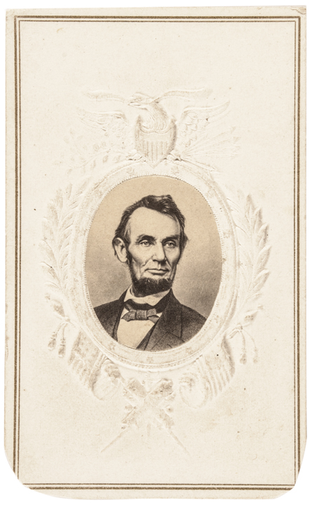 c 1863 Civil War Abraham Lincoln Patriotic Carte-de-Visite
