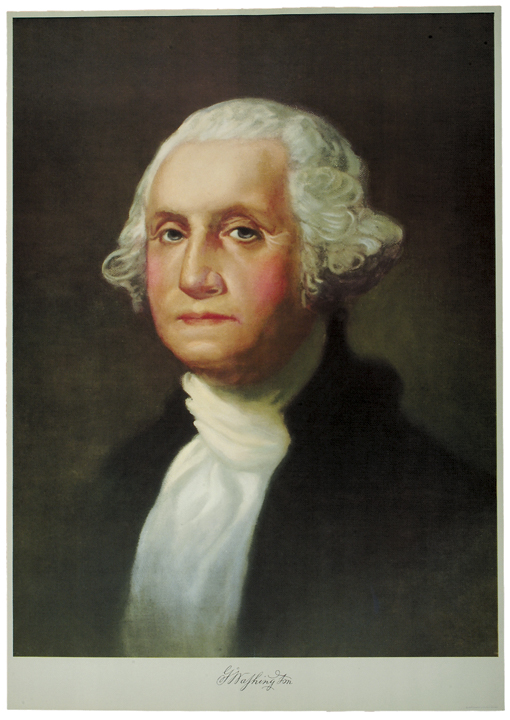 Wonderful George Washington Color Lithograph of 1932, After Gilbert Stuart