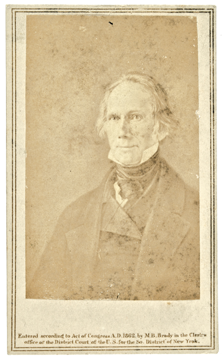 1862 Carte De Visite Photograph Image of Henry Clay, by Mathew B. Brady