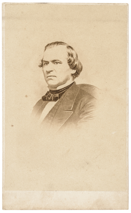 c. 1866, Carte de Visite Photograph of President Andrew Johnson