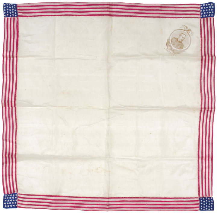 George Dewey, The Hero of The Manila Fight - Patriotic Silk Kerchief