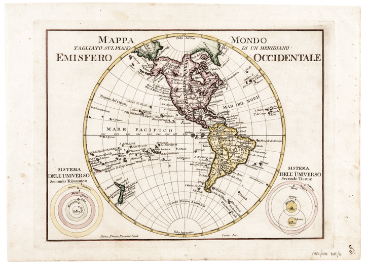 c. 1760s, Hand-Colored World Map,