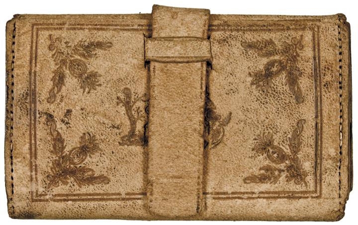 Civil War Period Wallet - Mormon Beehive Design