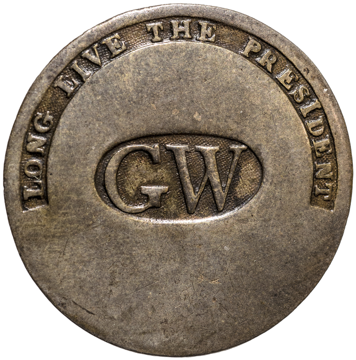 (1789) George Washington Inaugural Button with LONG LIVE THE PRESIDENT and G W
