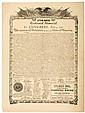 DECLARATION OF INDEPENDENCE 1876 Centennial, Advertising Broadside