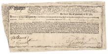 1780 Revolutionary War Massachusetts Bay Treasury Certificate. Anderson MA-22<br><br>
