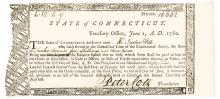 1780, Peter Colt Signed Pay Order for Connecticut Revolutionary War Veteran