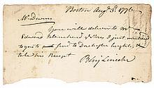 1776 Major General BENJAMIN LINCOLN Signed Siege of Boston Document