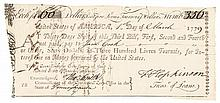 Signer FRANCIS HOPKINSON, WILLIAM BINGHAM Plus JOHN BENEZET 1779 Document Signed