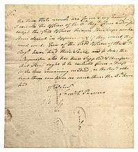 American Revolutionary War General SAMUEL HOLDEN PARSONS Autograph Letter Signed