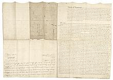 Autograph, LORD JEFFERY AMHERST. 1796-Dated, Manuscript Document Signed Twice