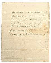 Continental Army General HORATIO LLOYD GATES, Autograph Document Signed Rev. War