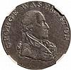 1795 Washington Liberty and Security Halfpenny PLAIN EDGE Type NGC AU Details