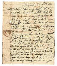 Historic 1811 CHIEF CORNPLANTER, Autographed Manuscript Letter Signed