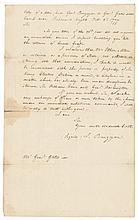 JOHN BURGOYNE Original 1777 True Copy Letter, ETHAN ALLEN Prisoner Negociations