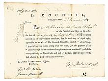 1783 General JOHN DICKINSON Continental Congressman, Signer U.S. Constitution