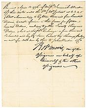 Declaration of Independence Signer ROBERT MORRIS Signed 1796 Fiscal Document