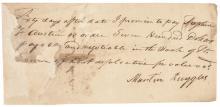 TWICE Signed STEPHEN F. AUSTIN Autograph Document Signed