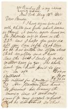 1865 Civil War Date Letter Docketed by MATHEW B. BRADY Photographer