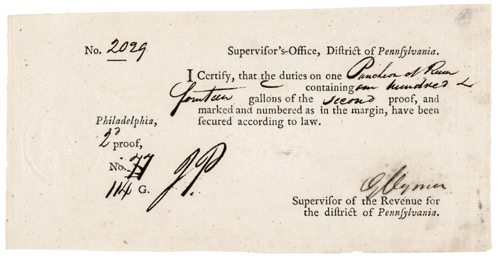 GEORGE CLYMER, Signer of Declaration of Independence Signed Port Form