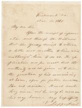 1861 Provisional Confederate President JEFFERSON DAVIS Autograph Letter Signed