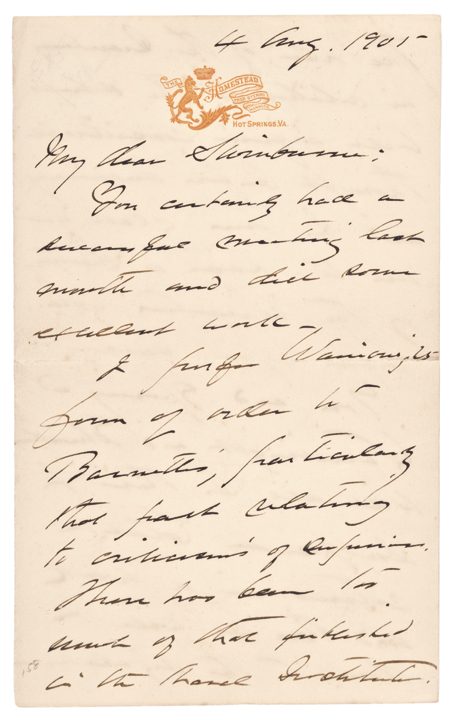 1901 Autograph Letter by GEORGE DEWEY, Admiral of the Navy, American Civil War