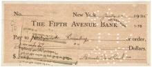 Rare 1935 AMELIA EARHART Signed Check Historic American Aviation Pioneer