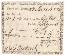 HORATIO GATES Autograph Original Receipt Signed + Engraving