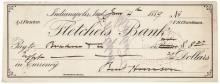 1889 President-Elect BENJAMIN HARRISON Autograph Signed Check