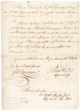 Continental Army Major General WILLIAM HEATH Signed Revolutionary War Document