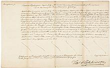 1785 Declaration Signer FRANCIS HOPKINSON Manuscript Document Signed