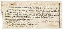 Declaration Signer FRANCIS HOPKINSON + JOSEPH BORDEN Continental Congress Loan