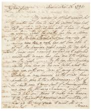 1792 DAVID HUMPHREYS Autograph Letter Signed
