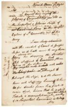 1781 Historic Draft SAMUEL HUNTINGTON Unsigned Revolutionary War Letter