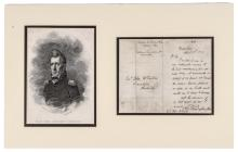1837-Dated ANDREW JACKSON Letter Signed Together with a Period Engraving