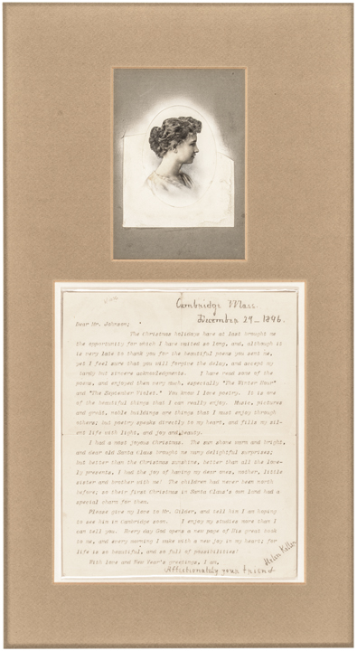 HELEN KELLER Typed Letter Signed