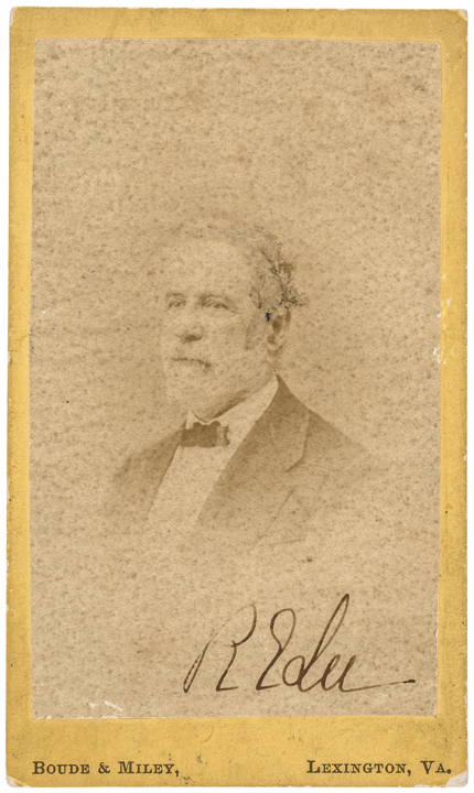ROBERT E. LEE Signed CDV - His Last Photograph Ever Taken - by Boude + Miley, VA
