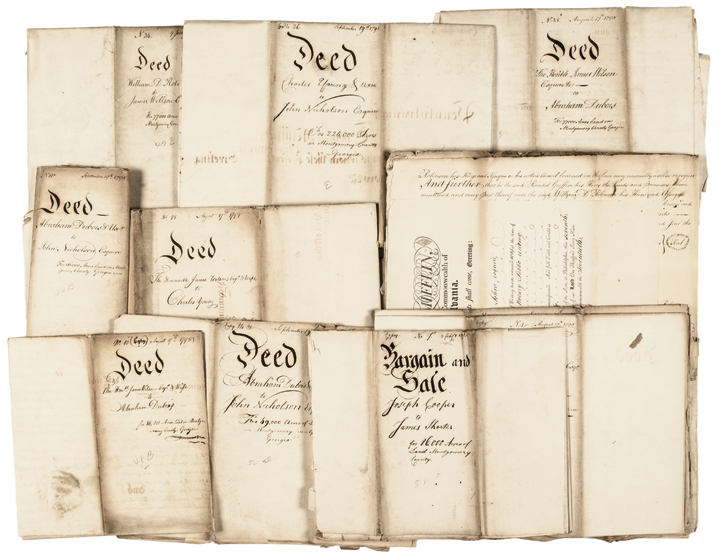 Important JOHN NICHOLSON Archive of 17 Documents January 26 + September 19, 1795
