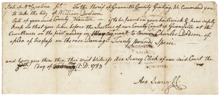 May 5, 1783 Declaration Signer JOHN PENN Autograph Document Signed with J. P.