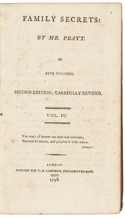 Library Book of George Washington with 3 Words Written by Washington's Hand
