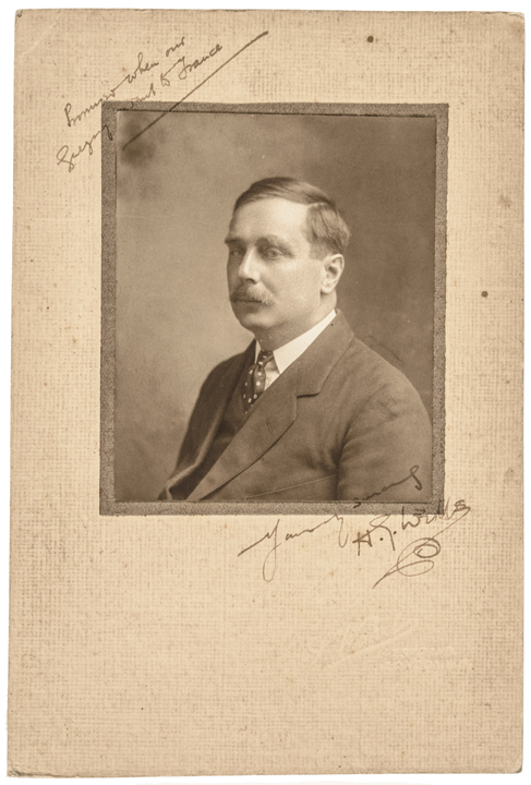 H.G. WELLS Signed Photo Author: The Time Machine, The Invisible Man+ War of the Worlds