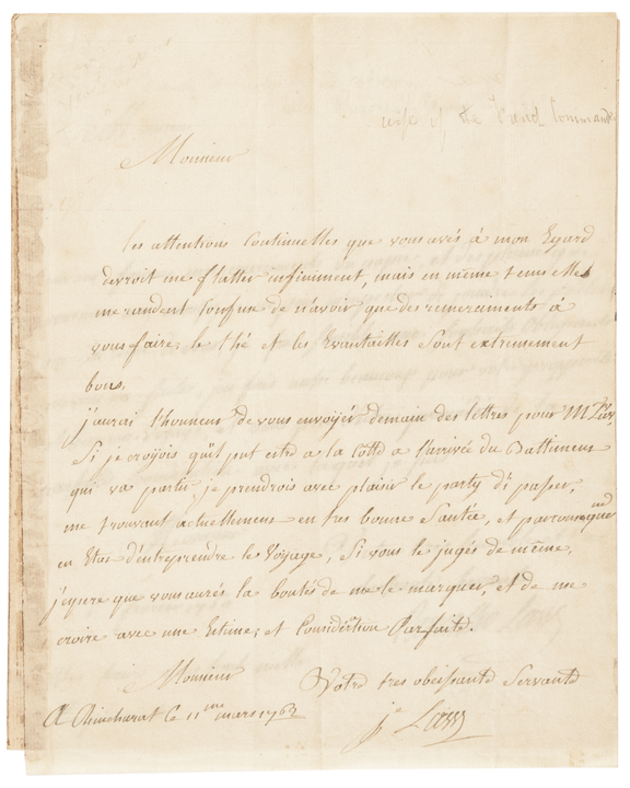 Archive of Letters from the Bengal Theater during the Seven Years' War