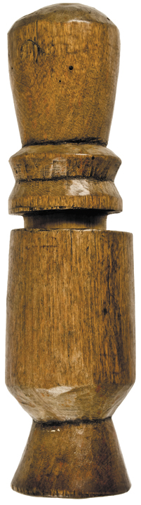 Rare Hand-Carved Wooden Treenware Nutmeg Spice Mill