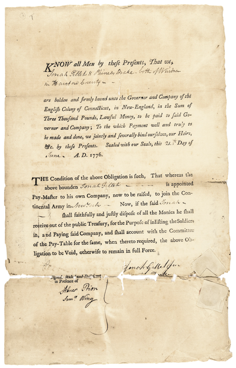 Revolutionary War Era Paymaster's Appointment Signed