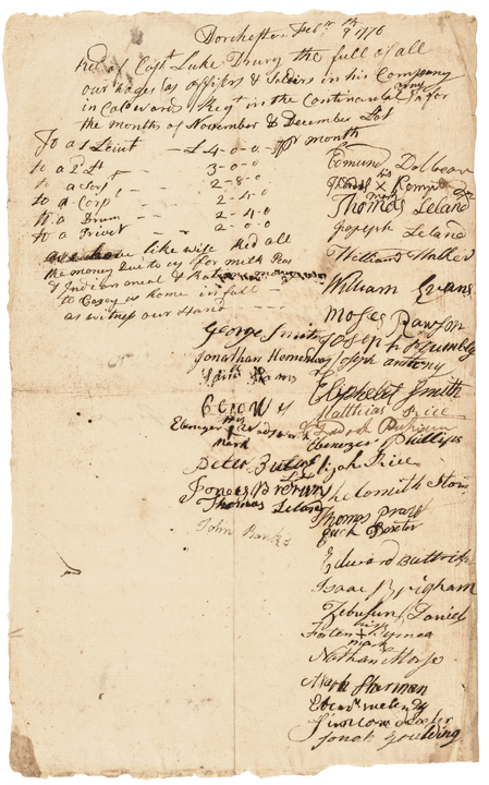 Two African-American Patriot Soldiers Signed 1776 Siege of Boston Document!