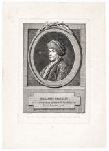 c. 1777 BENJAMIN FRANKLIN Revolutionary War Engraved Portrait