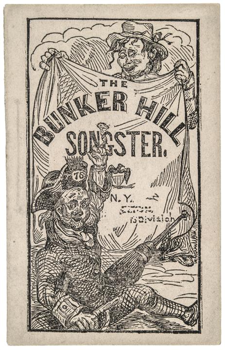 THE BUNKER HILL SONGSTER Printed Songbook Revolutionary War Battle Centennial
