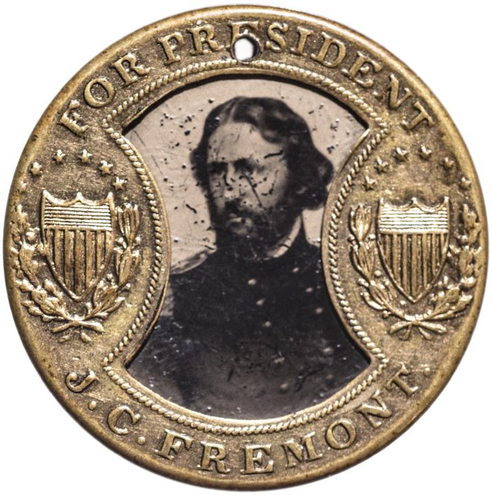 1864 J C FREMONT-JOHN COCHRANE Presidential Campaign JOHN GAULT Design Ferrotype